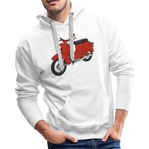 Schwalbe, ibiza-red scooter from GDR - Men's Premium Hoodie