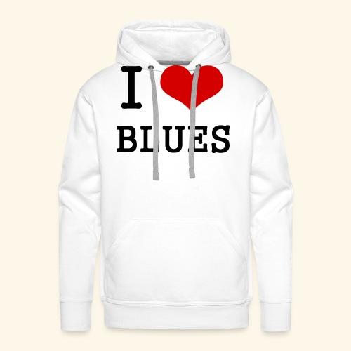 I Heart Blues - Men's Premium Hoodie