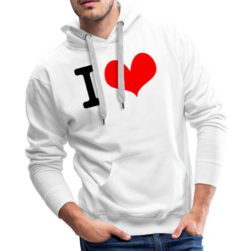 I Love what - Men's Premium Hoodie
