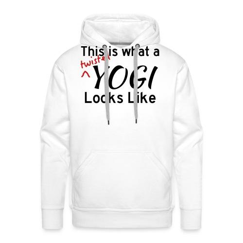 This is what a twisted yogi looks like (Women's) - Men's Premium Hoodie