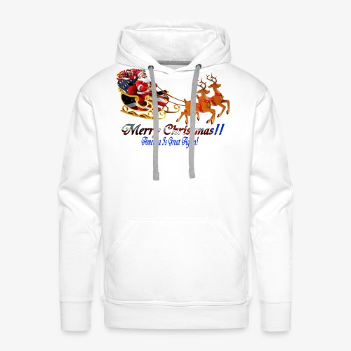 Merry Christmas-America - Men's Premium Hoodie
