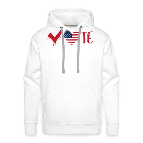 vote heart red - Men's Premium Hoodie