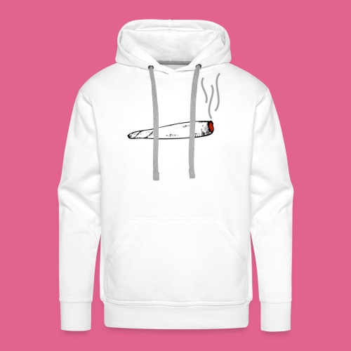 LIT WHITE BLACK GREY AND RED JOINT - Men's Premium Hoodie