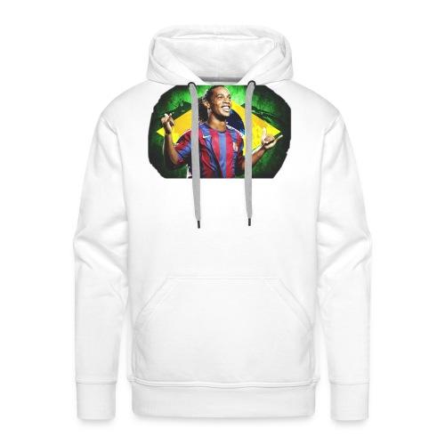 Ronaldinho Brazil/Barca print - Men's Premium Hoodie