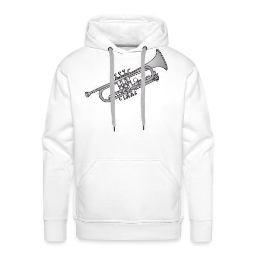 Trumpet brass instrument - Men's Premium Hoodie
