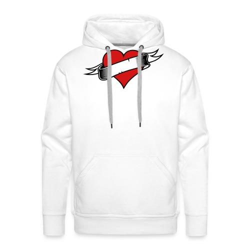 Custom Love Heart Tattoo - Men's Premium Hoodie