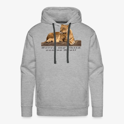 Lion-My child comes first - Men's Premium Hoodie