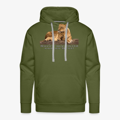 Lion-My child comes first - Men's Premium Hoodie