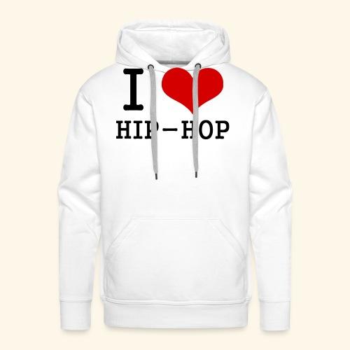 I love Hip-Hop - Men's Premium Hoodie