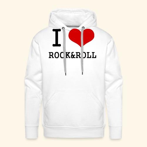 I love rock and roll - Men's Premium Hoodie