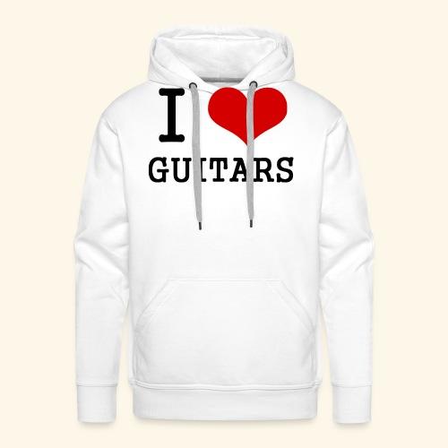 I love guitars - Men's Premium Hoodie