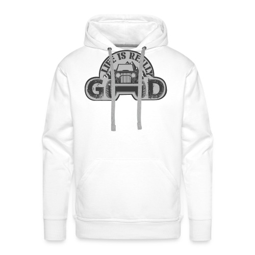 Life Is Really Good Jeep - Men's Premium Hoodie