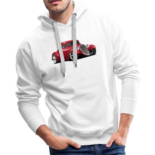 Custom American Red Hot Rod Car - Men's Premium Hoodie
