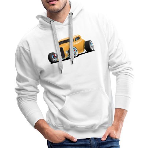 Classic American 32 Hotrod Car Illustration - Men's Premium Hoodie