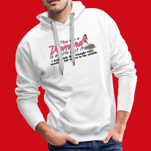 Softball Diamond is a girls Best Friend - Men's Premium Hoodie
