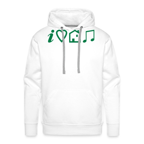 I Heart House Music - Symbolic Design 1 - Men's Premium Hoodie