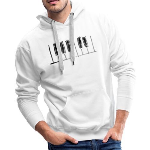 Hand Drawn Minimal Piano Design   Piano Keys - Men's Premium Hoodie