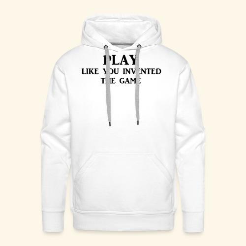 play like game blk - Men's Premium Hoodie