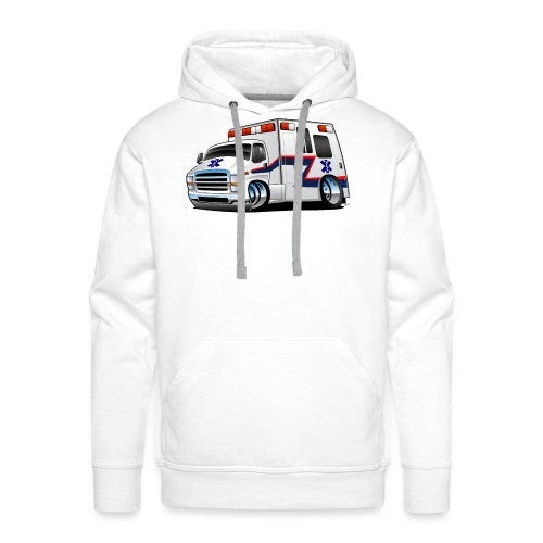 Paramedic EMT Ambulance Rescue Truck Cartoon - Men's Premium Hoodie