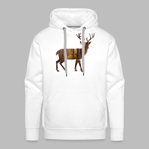 deer silhoutte - Men's Premium Hoodie