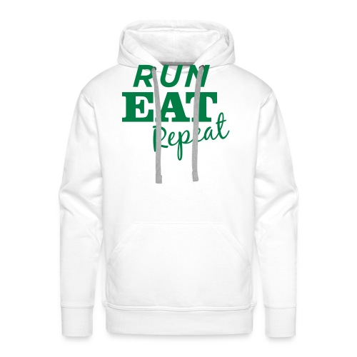 Run Eat Repeat buttons medium - Men's Premium Hoodie