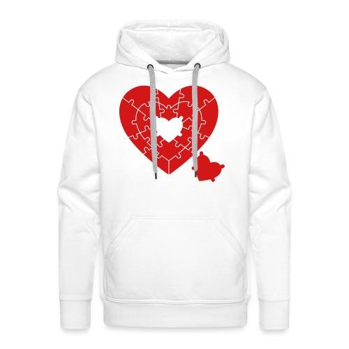 Heart Puzzle - Men's Premium Hoodie