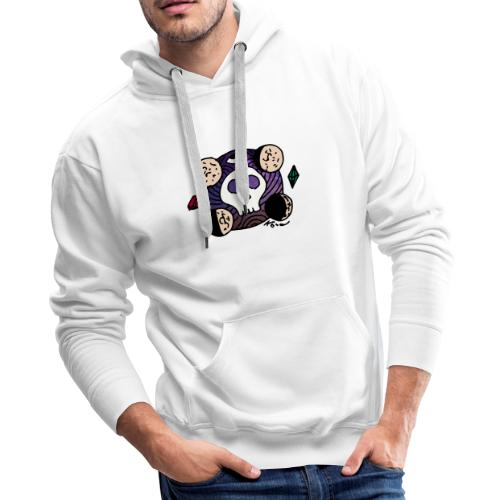 Moon Skull from Outer Space - Men's Premium Hoodie