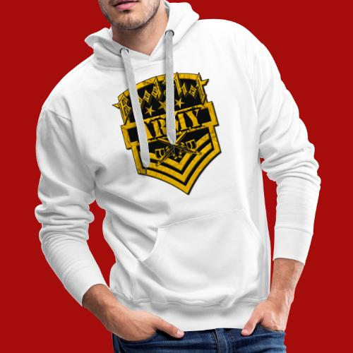 BloodShot ARMYLogo Gold /Black - Men's Premium Hoodie