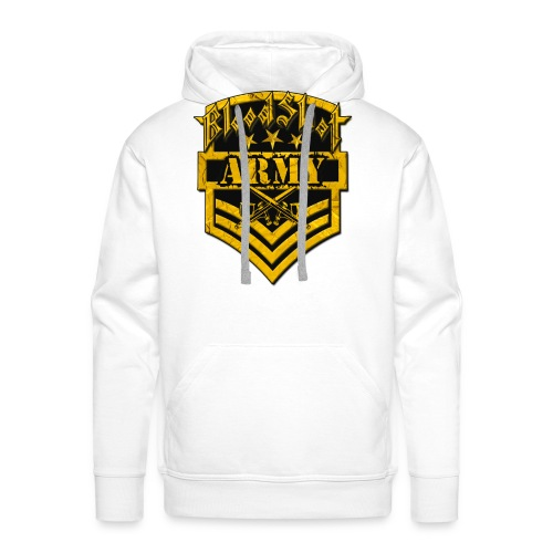 BloodShot ARMYLogo Gold /Black - Men's Premium Hoodie