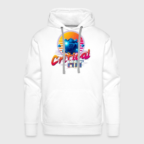 Critical Hit Dungeons Fantasy Outrun Design - Men's Premium Hoodie