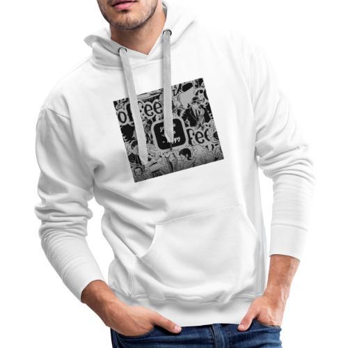You and Me Coffee Happy T-Shirt - Men's Premium Hoodie