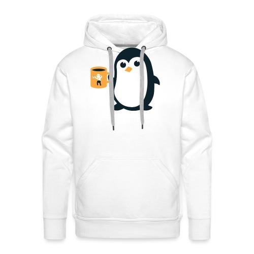 Cute Penguin Coffee - Men's Premium Hoodie