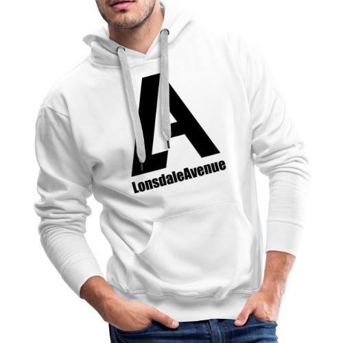 Lonsdale Avenue Logo Black Text - Men's Premium Hoodie