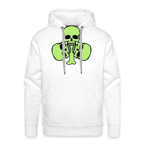 Skull Shamrock w/ Teeth - Men's Premium Hoodie