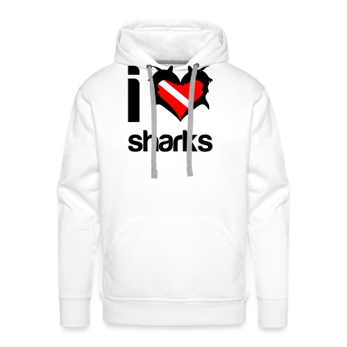 I Love Sharks - Men's Premium Hoodie