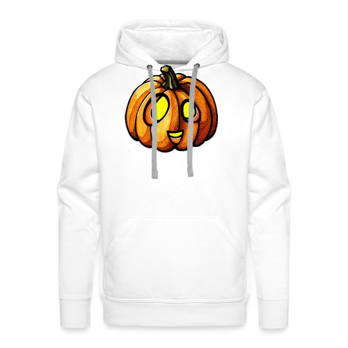 Pumpkin Halloween watercolor scribblesirii - Men's Premium Hoodie
