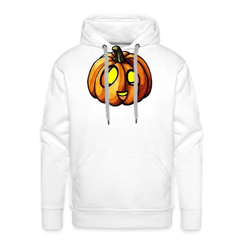 Pumpkin Halloween watercolor scribblesirii - Men's Premium Hoodie