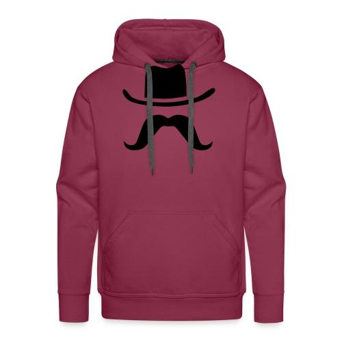 Hat & Mustache - Men's Premium Hoodie