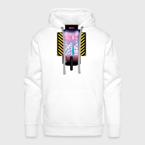 Ghostbusters Tetris Fair Use Mashup - Men's Premium Hoodie