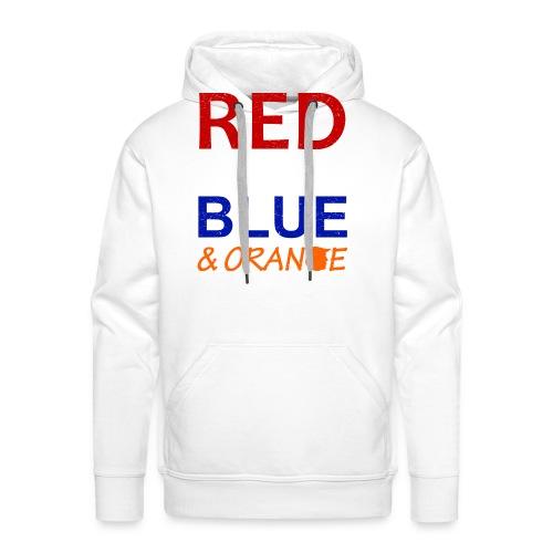 Red White Blue and Orange - Men's Premium Hoodie