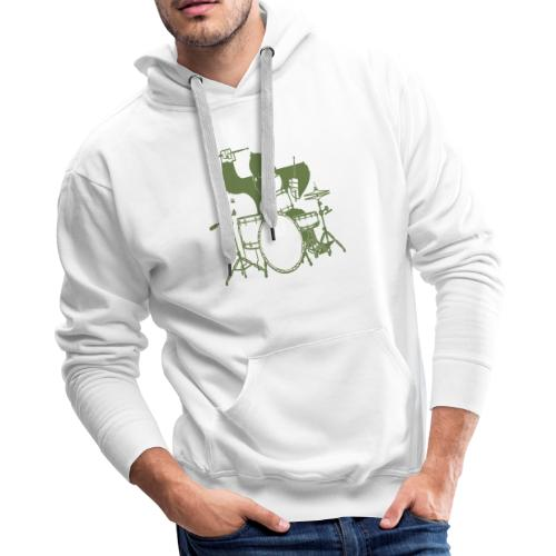 GORILLA PLAYING ON DRUMS - Men's Premium Hoodie