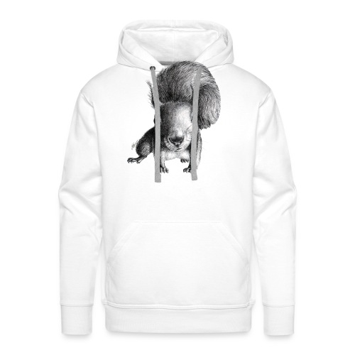 Cute Curious Squirrel - Men's Premium Hoodie