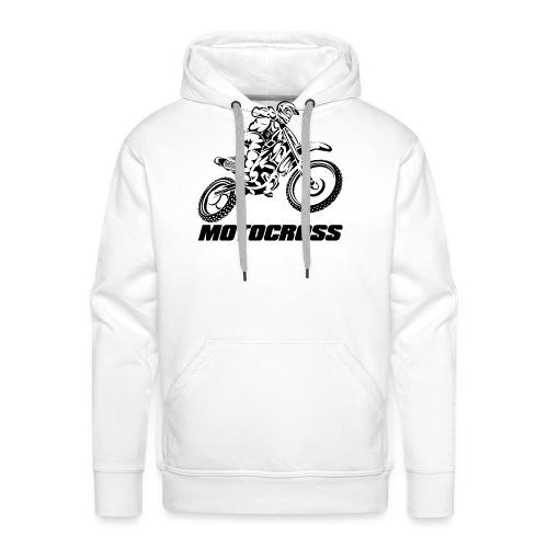 Motocross Logo Black - Men's Premium Hoodie