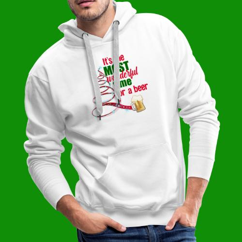 Most Wonderful Time For A Beer - Men's Premium Hoodie