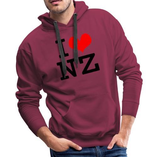 I Love NZ - Men's Premium Hoodie