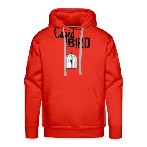 Caged Bird Abstract Design - Men's Premium Hoodie