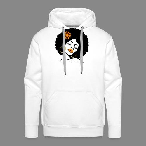 Afro Diva Orange Flower - Men's Premium Hoodie