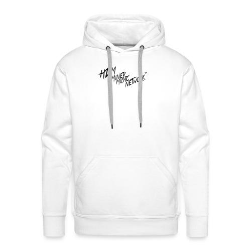 HDM Miner Music Network T-Shirt White - Men's Premium Hoodie