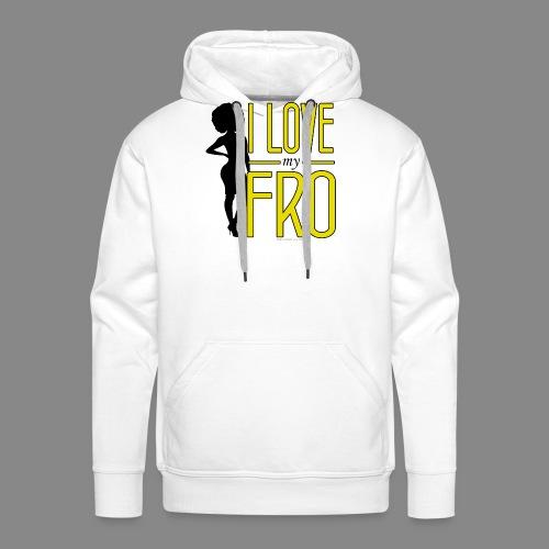 I Love My Fro - Men's Premium Hoodie