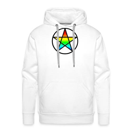 Official Iridescent Tee-Shirt // Men's // White - Men's Premium Hoodie